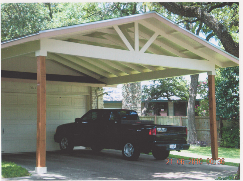 Wood Carports Attached To House