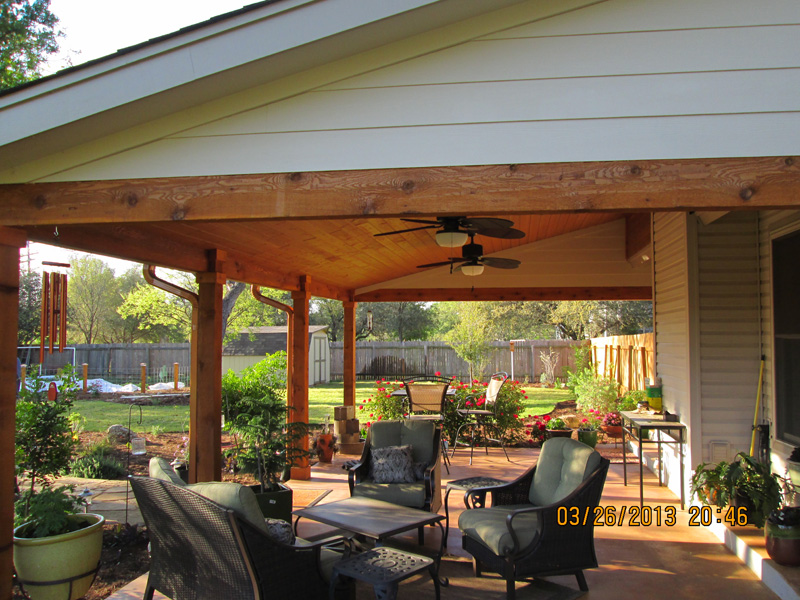... Wooden Patio Cover With Cedar Trim Outs ...